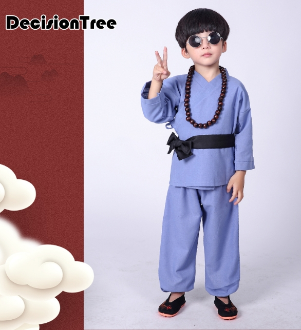 2019 Chinese Traditional Wushu Kungfu Uniform Martial Arts Sets Kick Boxing Tai Chi Uniform V Neck Clothing For Kids Children