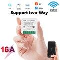2 варианта DiY WiFi умный светильник переключатель релейный модуль Smart Home приложение Smart Life/приложение Tuya дистанционного Управление работать с ...