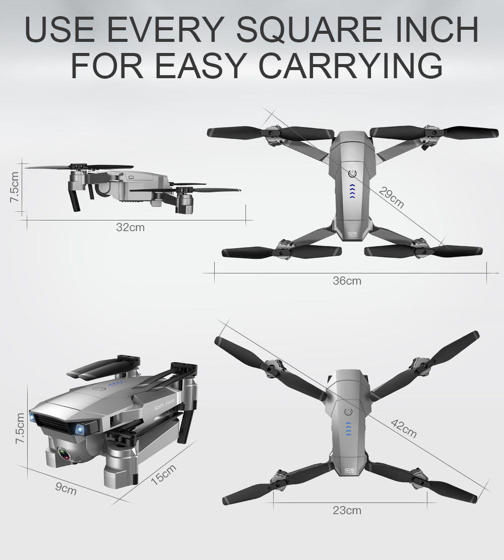 SG907 WIFI RC Quadcopter GPS Drone with 4K HD Dual Camera for Wide Angle Video Shooting 34