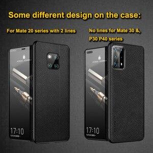 Image 2 - Cassa del Cuoio genuino Per Huawei Compagno di 20 Pro Caso Compagno di 20X 30 Pro Della Copertura Durevole Etui Coque Per Huawei P30 p40 Pro Caso Della Protezione