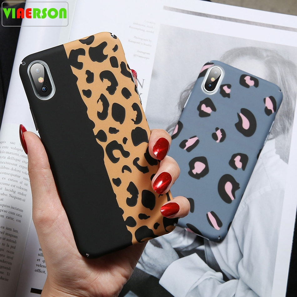VIAERSON Leopard luminous <font><b>Case</b></font> For <font><b>Samsung</b></font> Galaxy A3 A5 A7 J5 2017 A6 A8 2018 Hard PC <font><b>Phone</b></font> <font><b>Case</b></font> For <font><b>Samsung</b></font> S8 S9 Note 8 9 <font><b>S7</b></font> image
