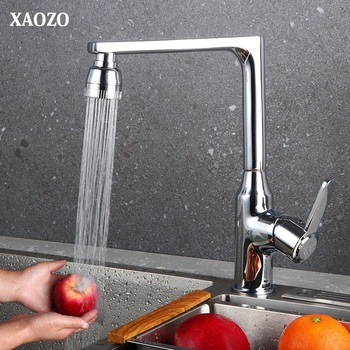 Kitchen Faucets Mixer Single Handle Hole Faucet Sink Tap brass chorme polished fauset