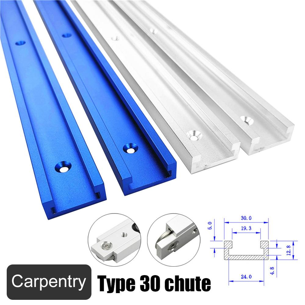 Aluminium Alloy T-track Slot Miter Track Jig Fixture Saw Table Chute For Router Table Bandsaws Woodworking DIY Tools Type-30