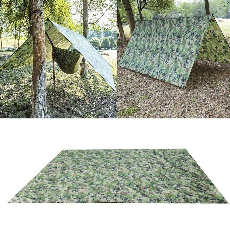 1 Set Outdoor Waterproof Camping Survival Sun Shelter Damp-proof Picnic Blanket Beach Awning Camping Mat Rain Shelter