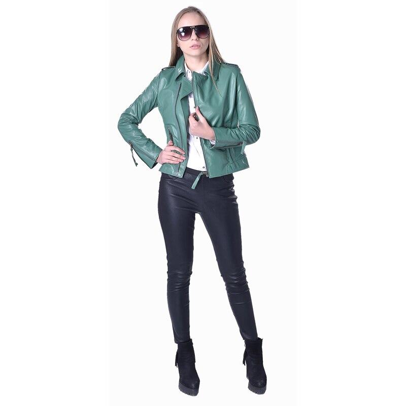 Factory Women's Jacket Genuine Sheepskin 5 Colors Fashion Slim Fit Short Lady Leather Coat For Women Autumn Spring ZH083