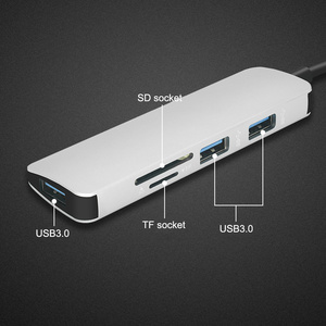 Image 4 - جديد USB C Hub إلى 3 USB 3.0 /TF /SD محول شحن ميناء نوع C Hub ل ماك بوك برو سامسونج غالاكسي S8 S9 LG G5 USB C HUB
