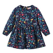 Children's Clothing Toddler Baby Girls Dress Long Sleeve Princess Party Pageant Dresses Kids Clothes Girls Summer Dress ##4(China)