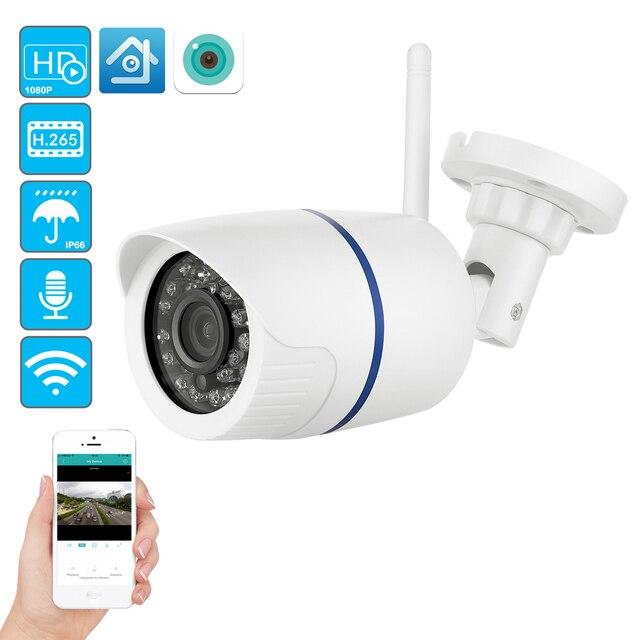 Câmera de vigilância usafeqlo hd 1080p, sem fio ip wi fi p2p 1080p cctv com cartão micro sd/tf slot icsee gravação de áudio