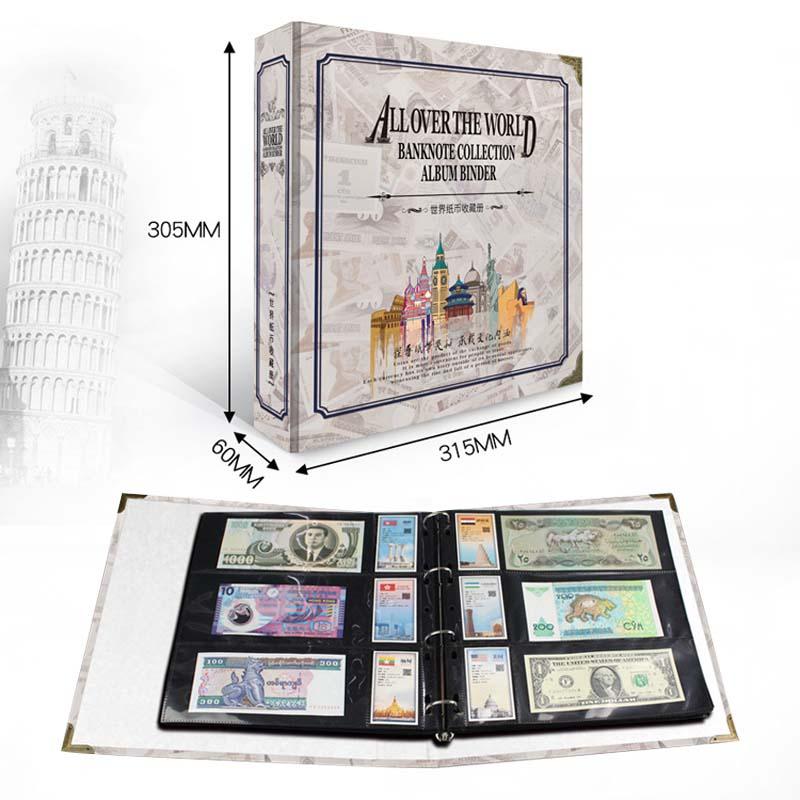 Альбом для банкнот по всему миру, папка для альбомов, бумага PCCB, книжная коллекция этикетка типа «свободный лист», этикетки для стран мира