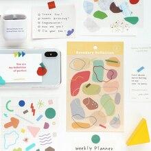 4 вида Fantasia двойной цветной наклейки для скрапбукинга DIY Журнал Дневник альбом телефон Happy planner недели украшения Стикеры