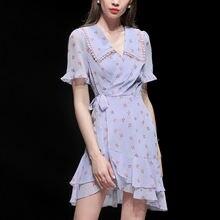 Цветочные платья женские лето 2020 новые темпераментные талии