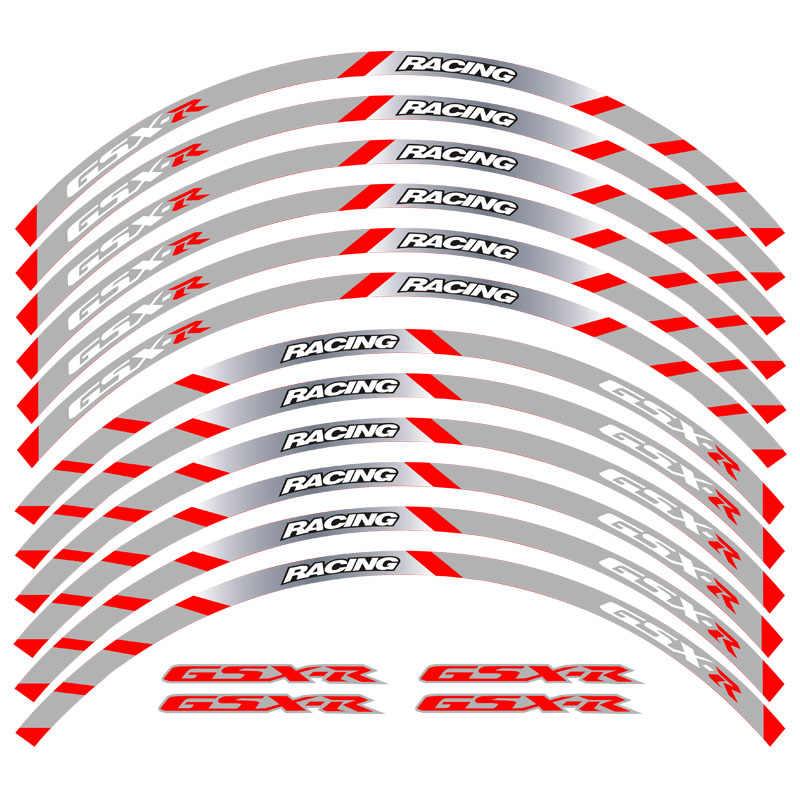 color azul Adhesivos para llanta de rueda de 17 pulgadas cinta adhesiva para GSXR 1000 600 750 15 16 17 18 19 2020 GSX-R 125 250 MC MOTOPARTS