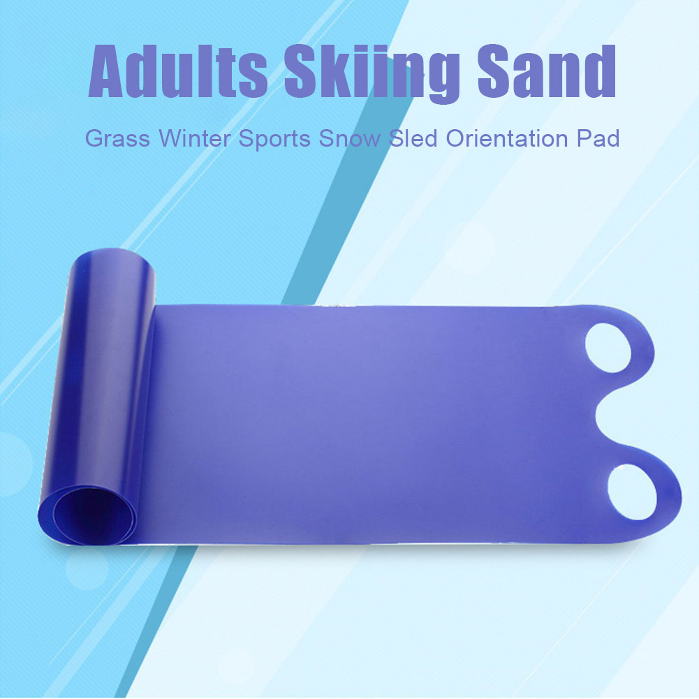 Thickened Kids Orientation Winter Sports Adults Skiing Toboggan Anti Skid With Handle Outdoor Folding Snow Sled Roll Up Pad