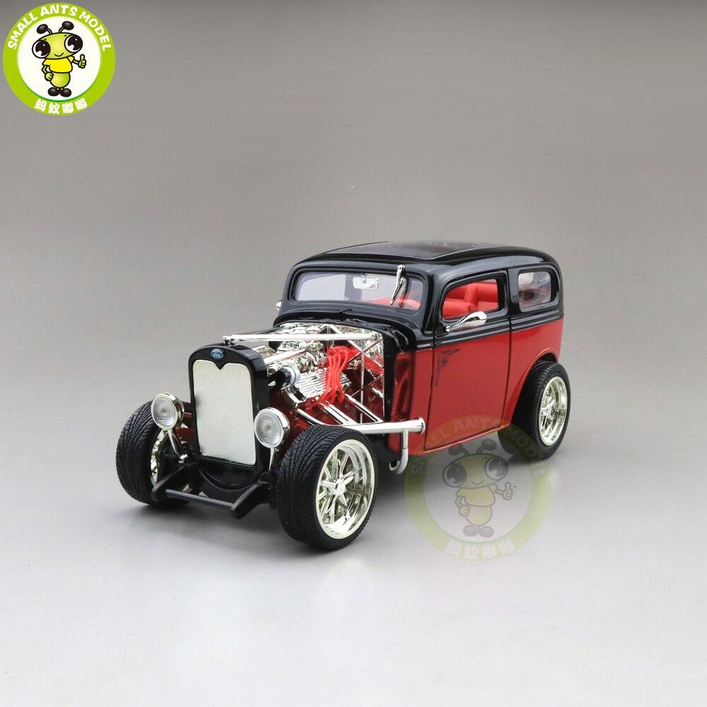 1/18 1931 Ford MODEL A CUSTOM Sedan Road Signature Diecast Model Car Toys Boys Girls Gift