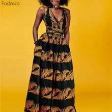 Fadzeco Новые африканские платья для женщин Анкара Дашики наряды