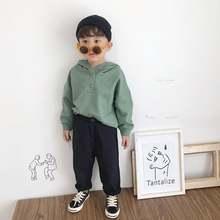 Осень 2020 Модный стильный свитер с капюшоном и пуговицами для