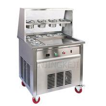 220v коммерческая машина для приготовления жареного йогурта