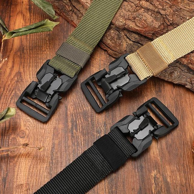 FRALU NEW Military Equipment Combat Tactical Belt for Men US Army Training Nylon Magnetic Buckle Waist Belt Outdoor Hunting belt 3