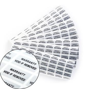 100 pieces Printed Security Seals Tamper Evident Warranty Void Labels Sticker Seals image