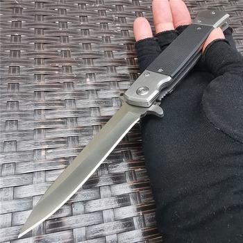 Wysokiej twardości nóż taktyczny składany kieszonkowy polowanie szybkie otwieranie 8CR13MOV ostrze noże noże do przetrwania na zewnątrz Camping i EDC tanie i dobre opinie Doom Blade Woodworking CN (pochodzenie) STAINLESS STEEL Nóż ze składanym ostrzem