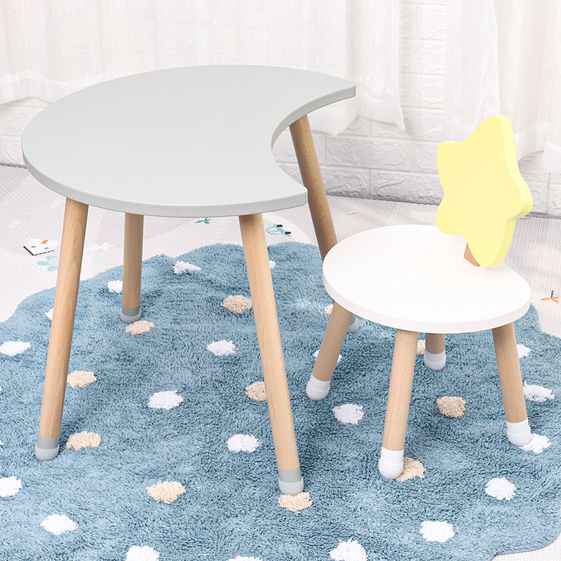 Nordic Furniture Children Room Solid Wood Tables And Chairs Wooden Learning Kids Desk For Kindergarten Kids Table And Chair