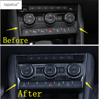 Lapetus Accessories Fit For Skoda Kodiaq 2017 2019 Central Control Air Conditioning Button Switch Panel Molding Cover Kit Trim