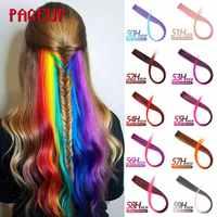 Page Rainbow syntetyczny sztuczne włosy długie proste Ombre włosy dla kobiet blond różowy włosy doczepiane clip in kolorowe