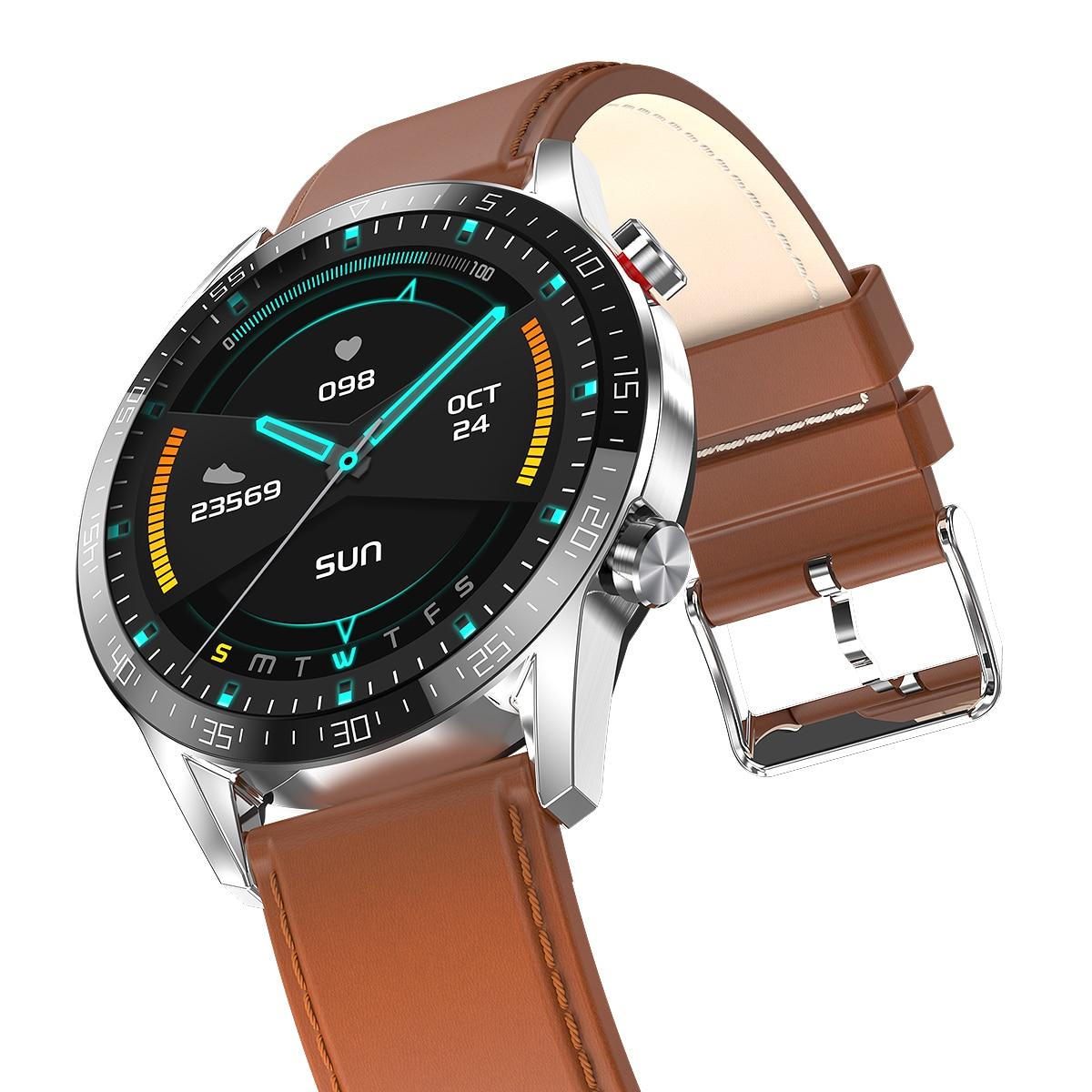 New Smart Watch Men IP68 Bluetooth Call Blood Pressure Heart   -   1mrk.com