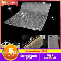 Rhinestone Sticker Sheet Rhinestone Trim Crystal Stickers Beaded Applique DIY Car Decoration Self Adhesive Embellishment Tablet