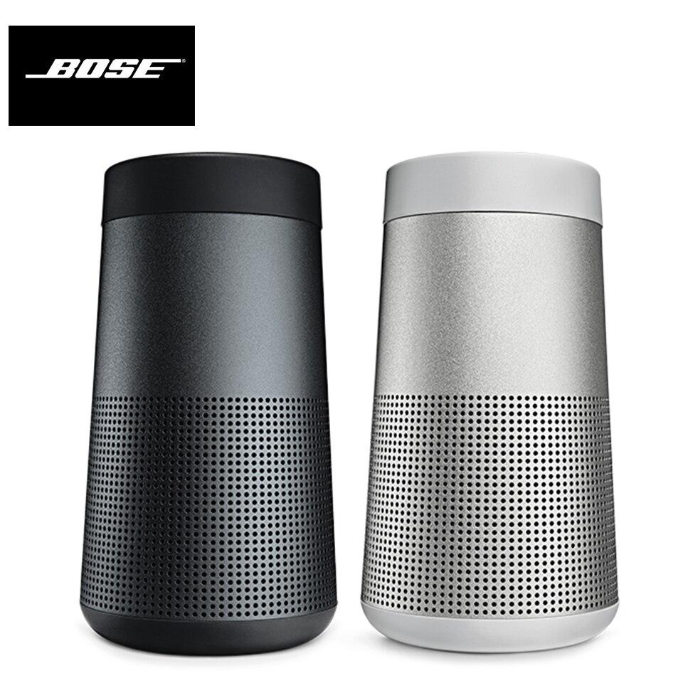 Bose SoundLink giratorio Altavoz Bluetooth portátil inalámbrico BT altavoz Mini BOSE Deep Bass sonido manos libres con altavoz 120dB Dispositivo de autodefensa contra la violación altavoces duales alarma fuerte alerta ataque pánico seguridad Personal llavero bolsa colgante