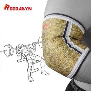 Image 1 - ROEGADYN Men Muscle 5mm neoprenowy ochraniacz na łokieć rękaw wsparcie dla podnoszenia ciężarów orteza stawu łokciowego, siłownia Power Support