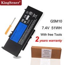 KingSener G5M10 แบตเตอรี่แล็ปท็อปสำหรับ DELL Latitude E5250 E5450 E5550 8V5GX R9XM9 WYJC2 1KY05 7.4V 51WH เครื่องมือฟรี