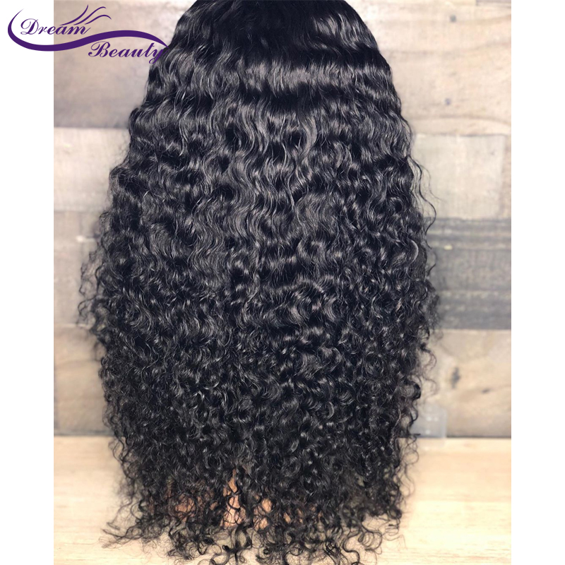 Image 5 - 150% Glueless Pre Plucked 13x4 Lace front Human Hair Wigs Curly Lace Wigs Brazilian Non Remy Human Hair Baby Hair Dream Beauty-in Human Hair Lace Wigs from Hair Extensions & Wigs