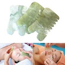 Scraper Massage-Comb Sha-Tools Jade-Stone Guasha Face-Neck Natural
