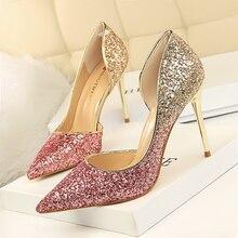 QWEDF 2019 Shoes New Wonen Pumps Fashion Office Women Sexy High Heels Womens Wedding Party CZ-92