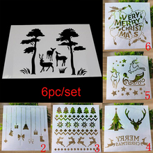 Christmas Templates Bullet Journa Stencils DIY Graphics Painting Scrapbooking Stamp Ornament Album Embossed Template Reusable au1212 austria 2012 christmas maria sarkozy altar painting stamp 1 new 1206