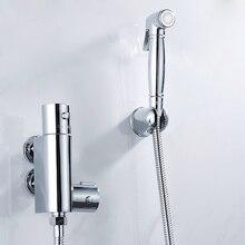 Handheld Bidet Spray Dusche Set, Kupfer Wc Flushing Gerät Anzug, Bad Wand Montiert Bidet Wasserhahn Set