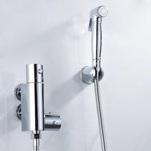 Handheld Bidet Spray Shower Set, Copper Toilet Flushing Device Suit,Bathroom Wall Mounted Bidet Faucet Set