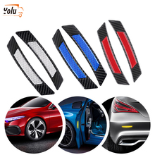 YOLU 2Pcs Car SUV Body Door Reflective Safety Durable Portable Convenient Useful Warning Anti-Collision Sticker Protector