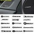 Car Speaker 4PCS/SET Audio Stickers Decal Badge stereo Emblem sticker Vehicle Audio Decorate 3D Aluminum Badge Emblem Sticker