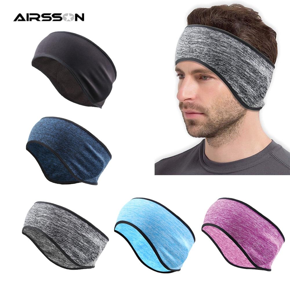 Winter Outdoor Cycling Headband Warm Fleece Earmuffs Men Women Ski Windproof Cap Ear Protectiion Fitness Hairband Bike Headwear