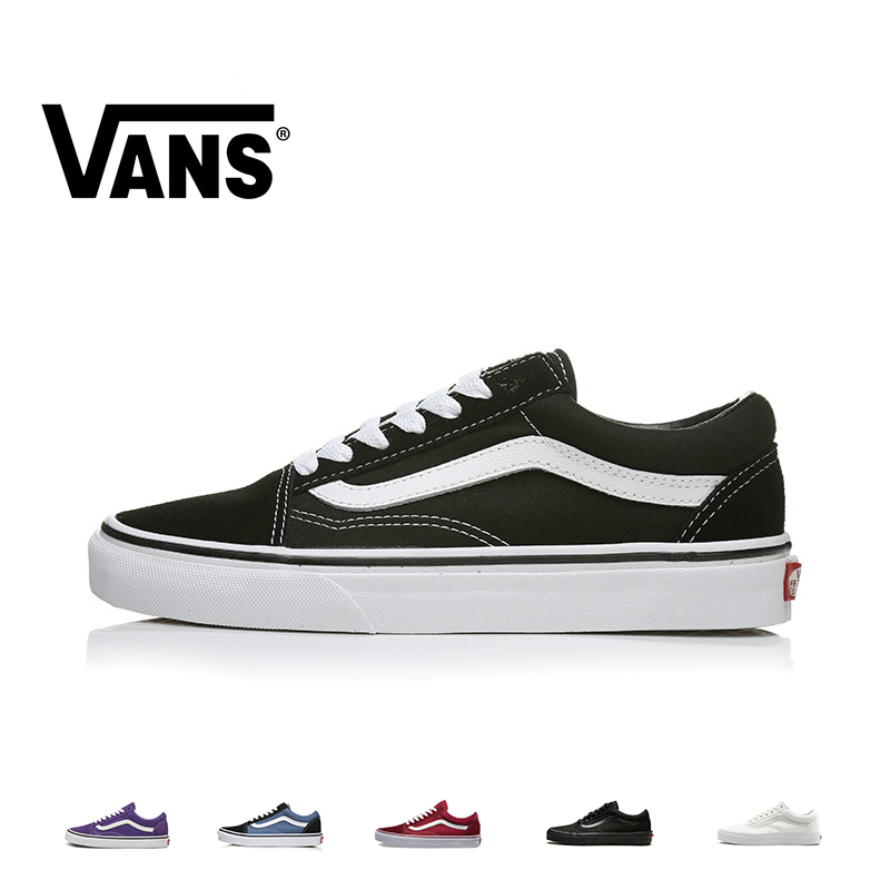VANS OLD SKOOL Men And Women Skateboard Shoes Multicolor Original Authentic Outdoor Sports Classic Leisure Series VN000D3H