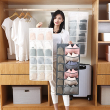 Fashion Transparent Storage Hanging Bag Portable Underwear Bra Socks Quality Double-sided Flinishing