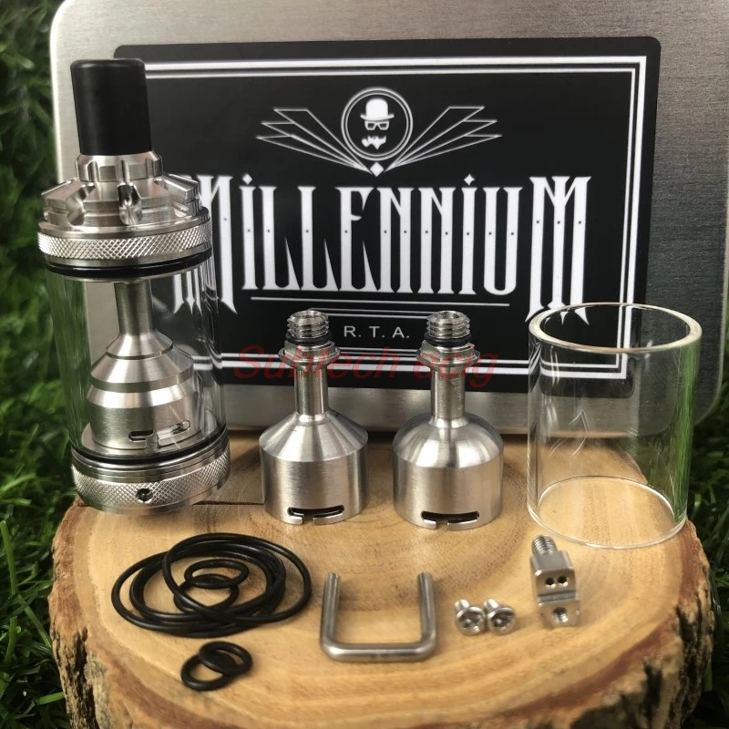 2019 Newest Millennium MTL RTA Tank 22mm 4ml Capacity 316ss Rebuildable Tank Atomizer 6 Different Airflow Holes Vs Spica Pro RTA