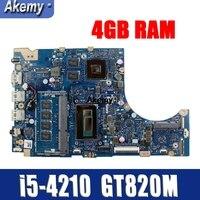 TP300LD GT820M/2G i5-4210CPU 4GB RAM 메인 보드 Asus TP300LA Q302LA Q302L TP300 TP300L TP300LJ 노트북 마더 보드 100% 테스트