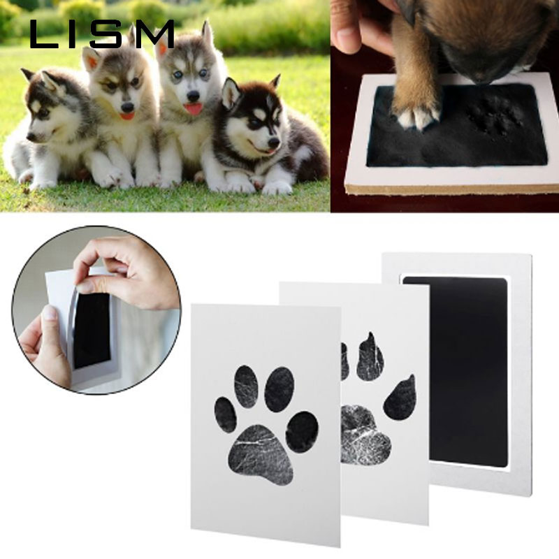 Pet Baby Footprints Ink Pads Safe Non-toxic Ink Pads Kits For Baby Shower Inkless Mess Baby Pet Cat Dog Paw Prints Souvenir