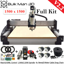 1515 WorkBee CNC Router Machine Full Kit V2.2 with Tingle Tension System 4 Axis CNC Engraving Complete Kit 1500x1500mm