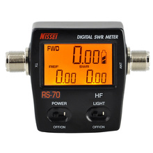 NISSEI RS 70 Digital SWR Power Counter 1.6 60MHz 200W M Type Connector