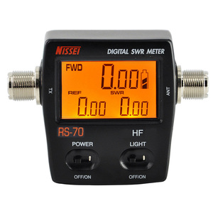Image 1 - NISSEI RS 70 Digital SWR Power Counter 1.6 60MHz 200W M Type Connector