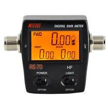 NISSEI RS 70 الرقمية SWR عداد الطاقة 1.6 60MHz 200 واط م نوع موصل